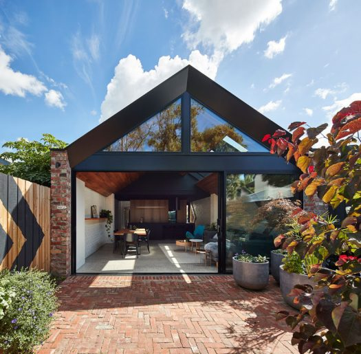 A for Architecture have recently completed the transformation of a inner-city weatherboard workers cottage in Melbourne, Australia, into a home for a growing young family.
