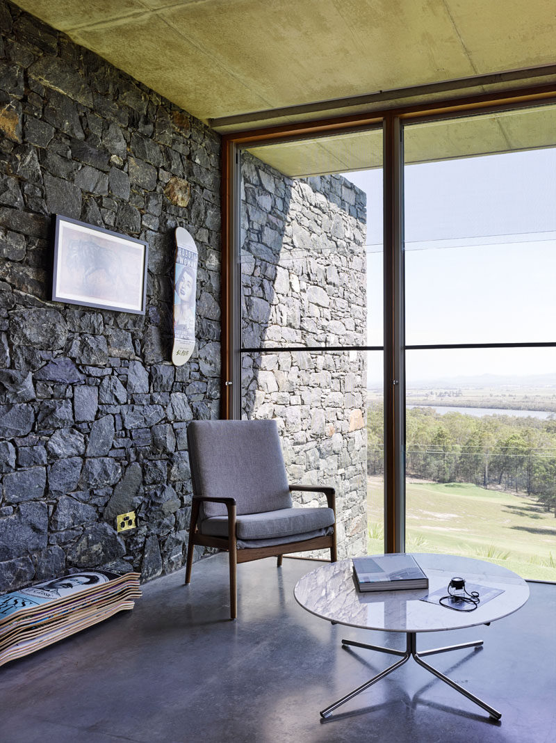 This House With Bluestone Walls Overlooks The Landscape Below