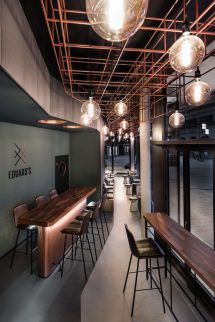 Copper and Wood Ceiling