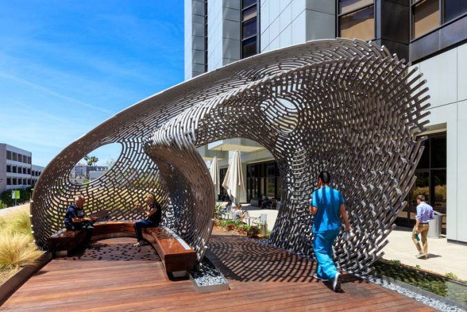 AHBE Landscape Architects have designed the new Healing Gardens and terrace for Cedars-Sinai Medical Center in Los Angeles, California.