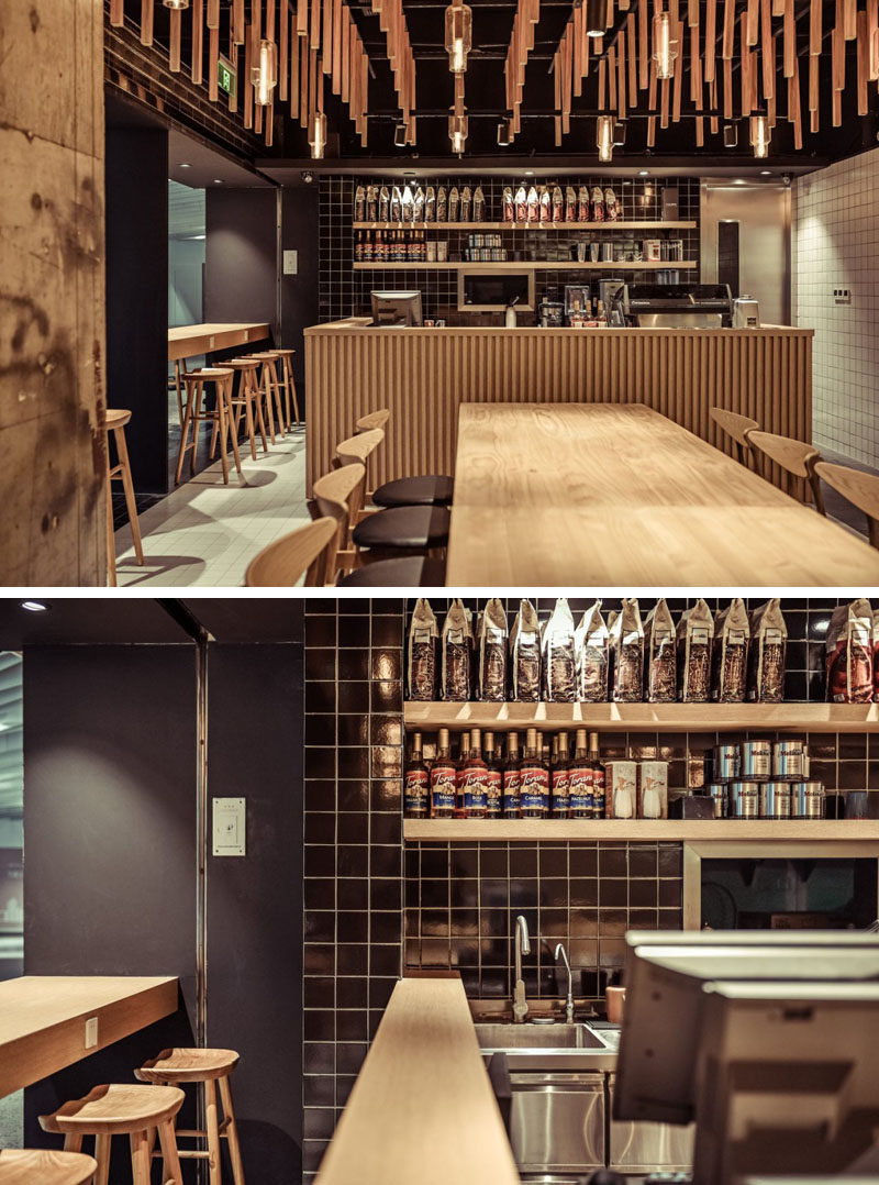 This New Coffee Shop In China Uses Wood Elements To