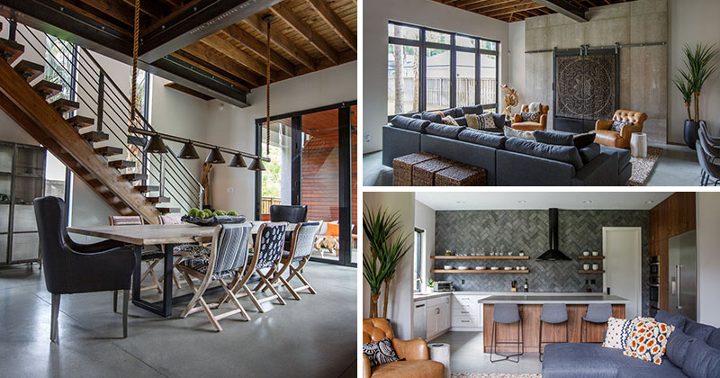 This New House In Florida Has A Contemporary Interior With Industrial Accents  CONTEMPORIST