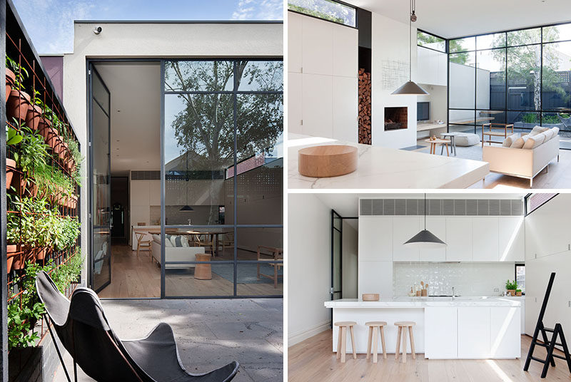 Architecture firm Robson Rak, together with interior design firm Made by Cohen, have designed the renovation of a Victorian cottage in Melbourne, Australia. #Renovation #InteriorDesign #Courtyard #OpenPlanLiving