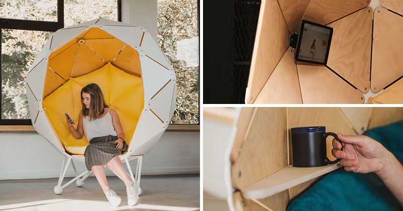 This Chair Is Designed To Create A Private Space For One