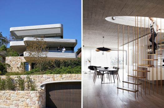 Luigi Rosselli Architects have recently completed a new and modern house in Sydney, Australia, that has a design that was inspired by the piling of books on a table. #Architecture #InteriorDesign #ModernHouse