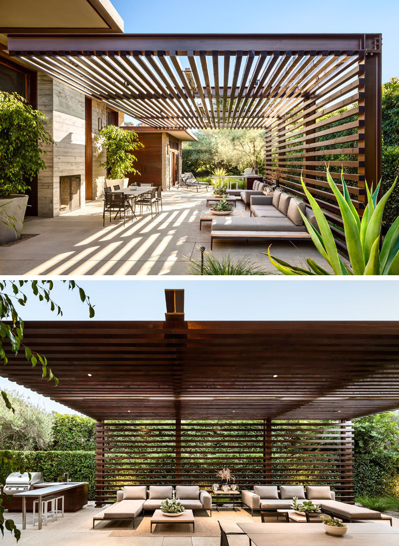 The Thayer Residence By NMA Architects Greets Visitors With A Contemporary Courtyard  CONTEMPORIST