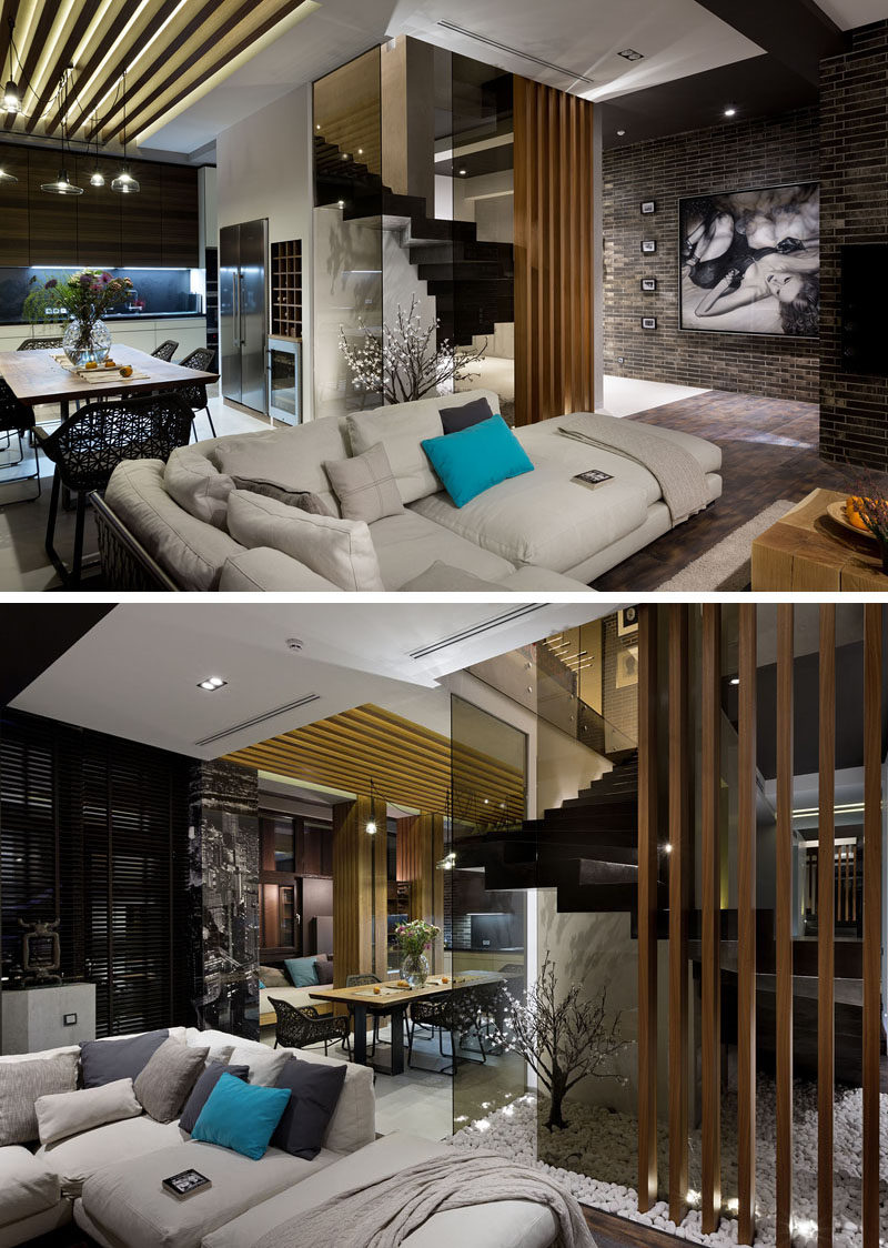 Materials Like Dark Brick, Wood, And Glass Are Used In The ...