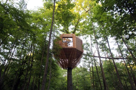 Atelier LAVIT have designed the ORIGIN Tree House for their clients in France who wanted to have a unique cabin. #ModernTreeHouse #TreeHouse #Architecture