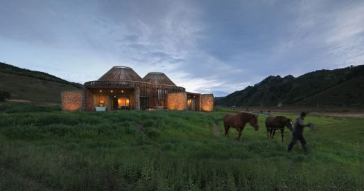 Architecture firm HDD have designed theMulan Weichang Visitors Centre, that's located in China, and whose shape is inspired by yurts. #Architecture