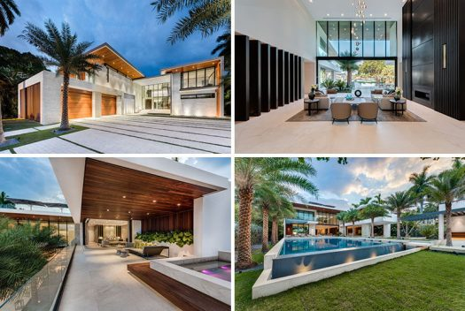 Cheoff Levy Fischman Architecture + Design have designed a custom single-family residence located on Palm Island in Miami Beach, Florida, that was inspired by the home's native environment. #ModernHouse #ModernArchitecture