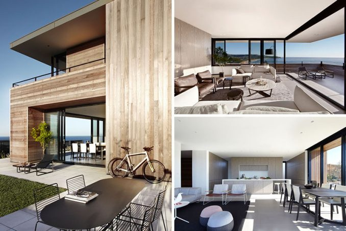 Smart Design Studio have created thismodern beach house that overlooks the beachon the edge of a sleepy coastal town in Australia. #ModernBeachHouse