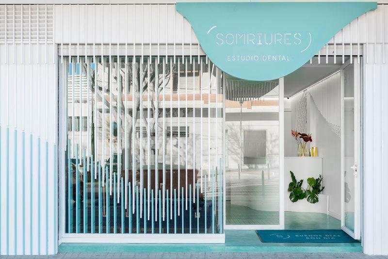 This Dental Clinic Interior Design Features A Sculpture