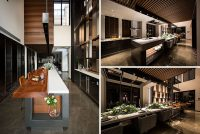 Design Detail - This Extra Long Kitchen Island Is Used As ...