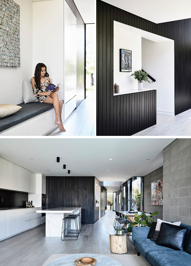 bench seating for kitchen chef appliances jamison architects have designed a contemporary duplex ...