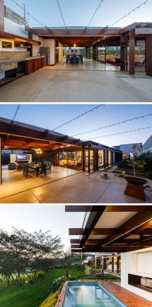 Arquitectura X Designed Single Level Home Of