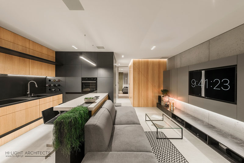 HiLight Architects have designed a modern apartment in