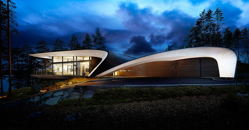 The Shape Of This House In Finland Was Inspired By The Design Of Planes And Boats  CONTEMPORIST