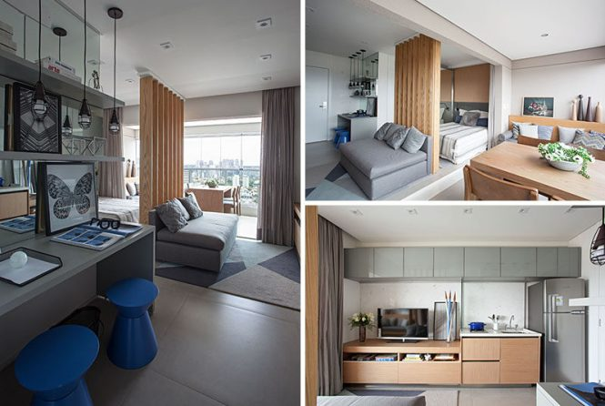 This Small And Modern Apartment Has An Integrated Balcony For Extra Living E Smallapartment