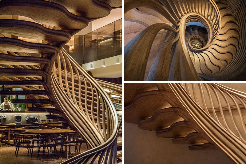 16 Photos Of An Amazingly Sculptural Wood Staircase Inside A   Wooden Spiral Stairs Design   Different Style   Circular   Curved   Space Saving   Easy Diy