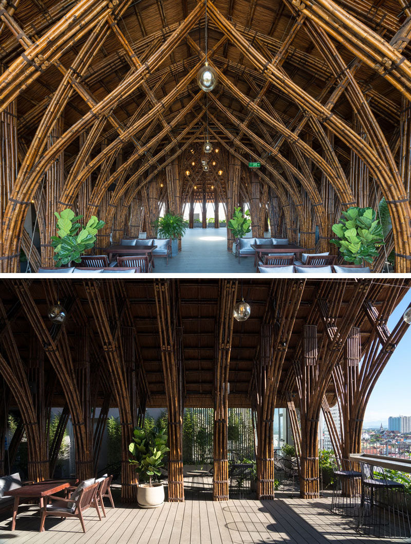 VTN Architects Used Bamboo To Create A Cave Like
