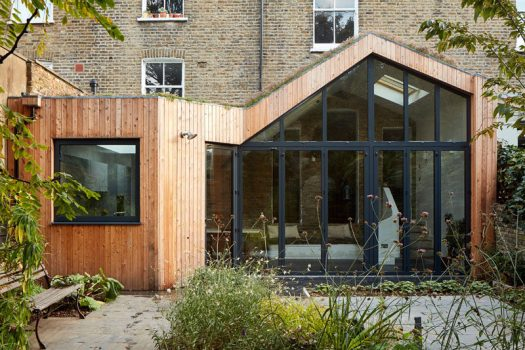 Scenario Architecture have designed a modern wood extension to a large Victorian house, located in a conservation area in Hackney, London. #HouseExtension #Architecture