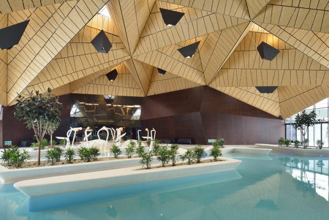 Architecture firm ENOTA, have recently completed Termalija Family Wellness, a modern and relaxing thermal spa that was once a classic health centre, that was built in the 1980s. #WellnessCenter #Architecture #SwimmingPool
