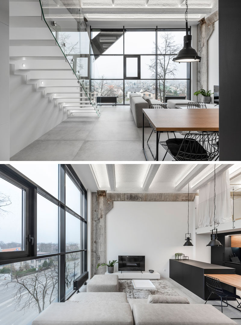 A Lithuanian Loft Interior With A Monochrome And Wood