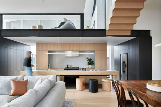Whiting Architects has designed the modern transformation of a large Edwardian family home in Melbourne, Australia. #InteriorDesign