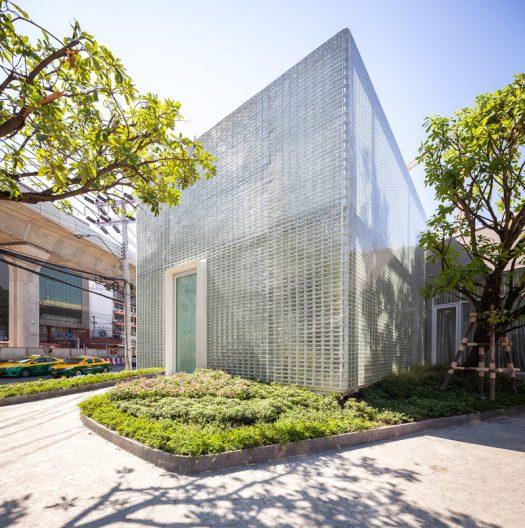Architecture Ideas - 20,000 rectangular glass blocks were used to create a modern building that also hides an interior courtyard. #GlassBlocks #Architecture #BuildingIdeas