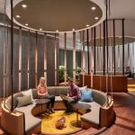 This Office S Interior Design Included Plenty Of Semi Private Circular Seating Areas