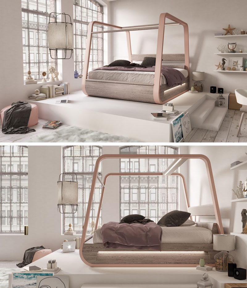 This Bed Is Designed With Hidden Features Like A Projector A 70 Inch Screen And Integrated Speakers