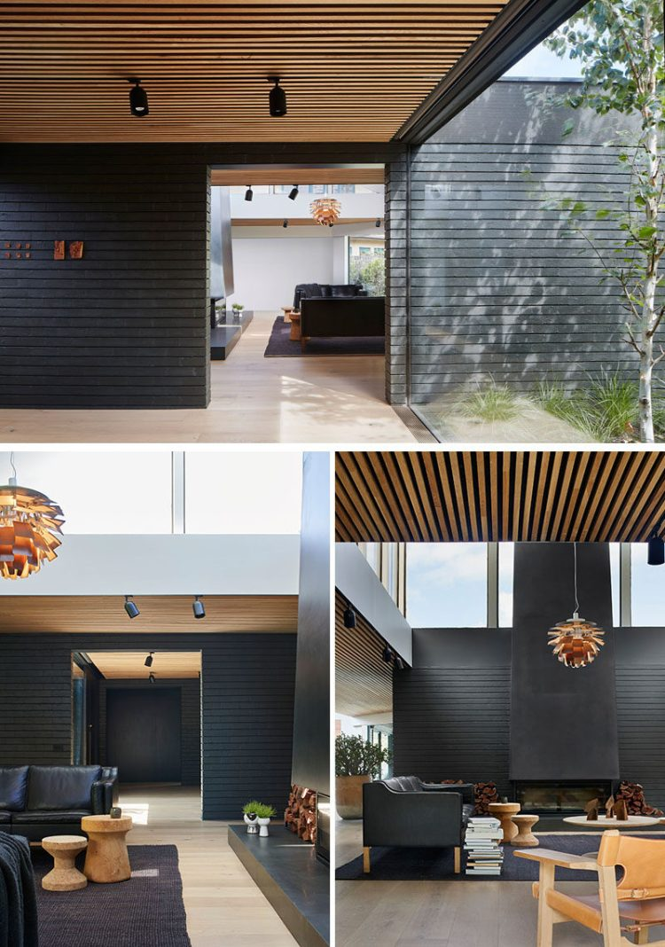 Black Brick Is Featured Throughout This Modern Australian House