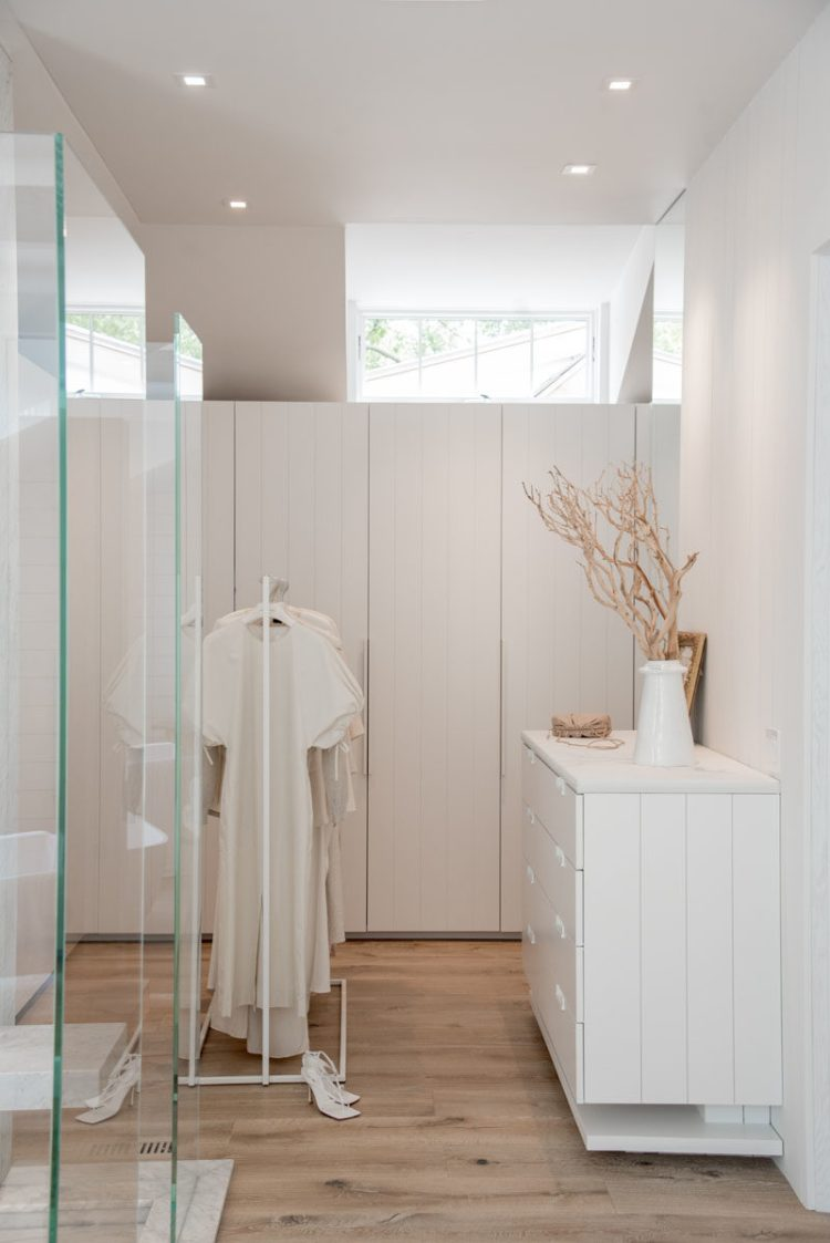 This Bathroom And Walk In Closet Combination Are Fully Open To The Room