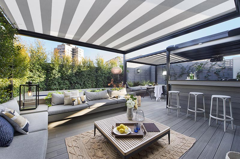 Cover Outdoor Spaces With Shade To Protect The From Sun And Rain