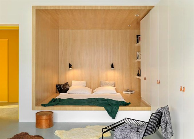 Bedroom Design Idea Create A Built In Bed Within A Wood Lined