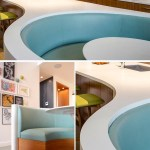 This Kitchen Island Was Combined With A Seating Area On One End