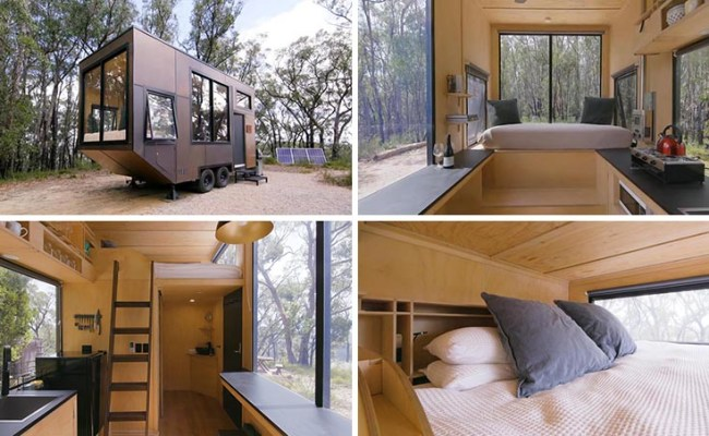 Take A Look Inside This Minimalist Tiny House With A King