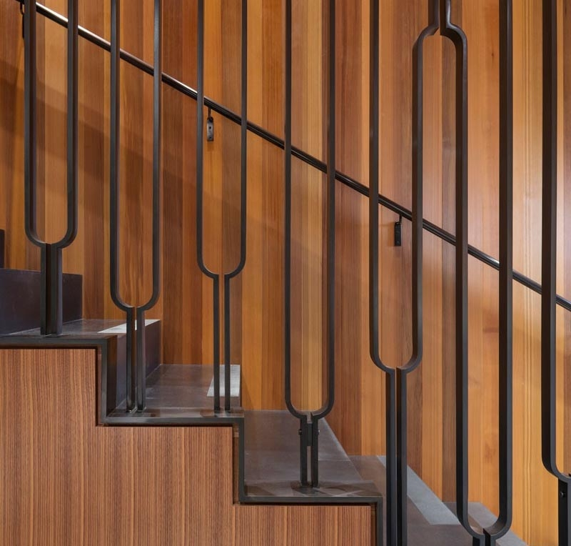 This Black Metal Stair Railing Makes A Strong Statement With Its U | Black Modern Stair Railing | Glass | Raised Ranch | Minimalist | Interior | Chris Loves