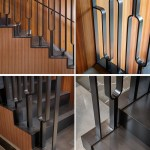 This Black Metal Stair Railing Makes A Strong Statement With Its U Shaped Design