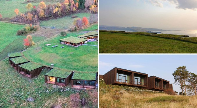 The Onya Cultural Landscape Hotel has rooms that blend into the hillside.