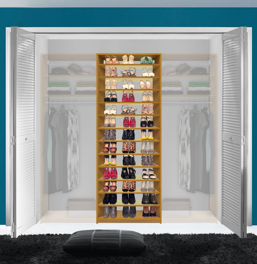 white corner units for living room designing a small layout isa custom closet - shoe storage & organization ...