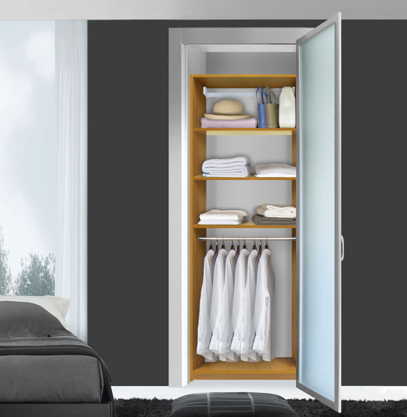 Isa Custom Closet  Hanging Closet 3 Shelves Above