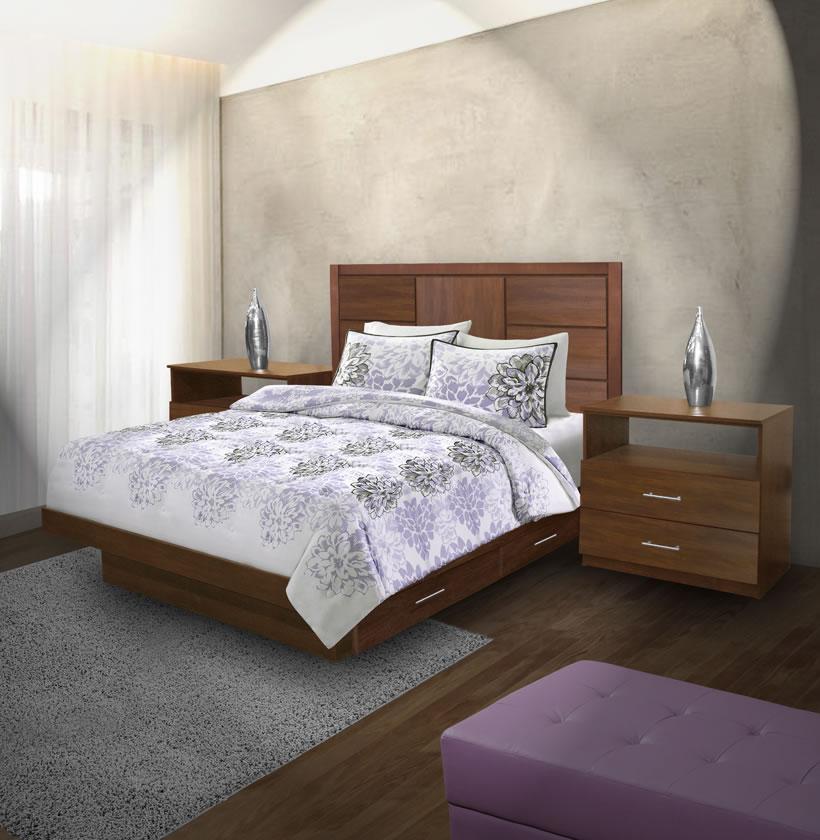 Montclair Queen Size Bedroom Set w Storage Platform