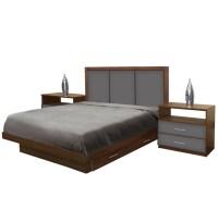 Monte Carlo King Size Bedroom Set w Storage Platform
