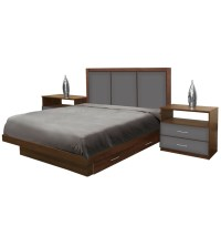 Monte Carlo King Size Bedroom Set w Storage Platform ...