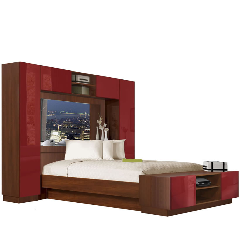 corner media units living room furniture z gallerie chilton pier wall bed with mirrored headboard   contempo space