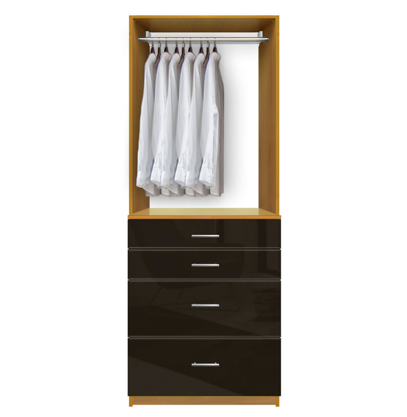 Isa Custom Closet  Drawers for Small Closet Organization