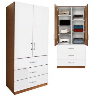 armoire white contempo space