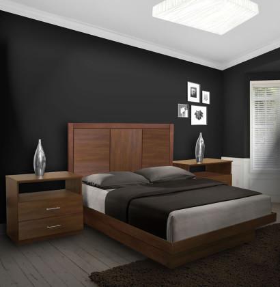 Monte Carlo Queen Size Platform Bedroom Set 4 Piece
