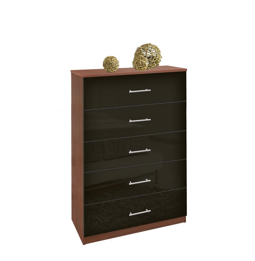 Modern Tallboy Dresser  5 Drawer Chest of Drawers